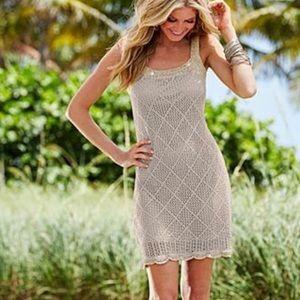 Venus Crochet Beach Boho Shift Dress